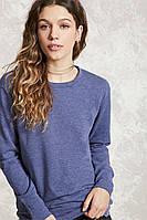 Свитшот темно-синий женский свитер реглан Forever 21