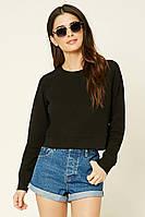 Пуловер черный женский свитер реглан Forever 21