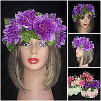 """Красивый венок из искусственных цветов """"Лилии"""", 235/195 (цена за 1 шт. + 40 гр.)"""