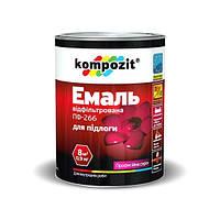 Эмаль для полов ПФ - 266 желтая-коричневая Kompozit 0.9 кг