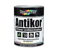 Грунтовка антикорозионная светло серая ANTIKOR Кompozit (Антикор Композит) 1 кг