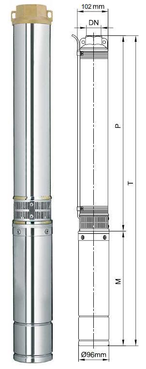 Погружной скважинный насос Aquatica 4SEm2/14 (777447)