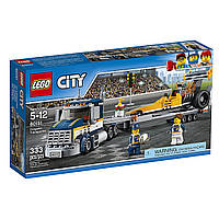 Конструктор Lego City Лего Сити Город Грузовик для Перевозки Драгстера 60151