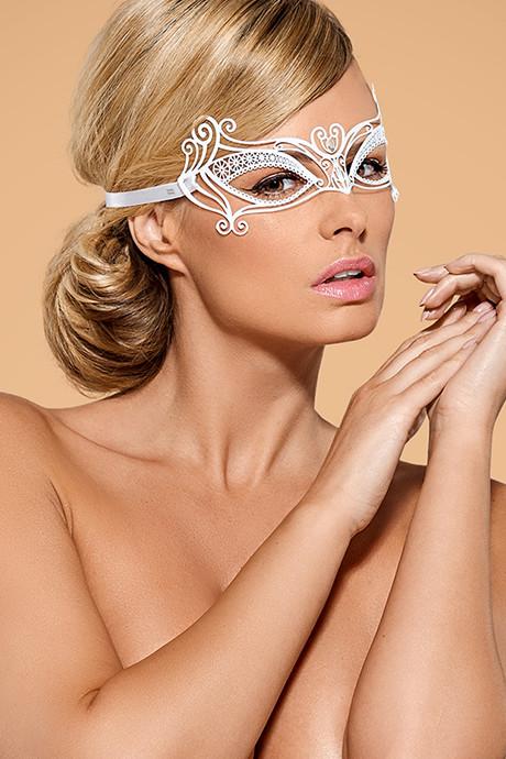 Металлическая маска для глаз A703 Белый