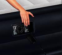 Надувная кровать двуспальная Intex 64136 (152х203х42 см.) + 220V, фото 2