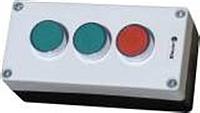 """Пост кнопочный трёхместный """"Старт1-Старт2-Стоп""""  (1 красная, 2 зелёных)"""