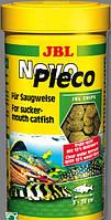 JBL Novo Pleco 100мл 55гр корм в виде чипсов с водорослями для растительных донных рыб