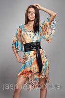 Платье туника с поясом