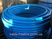 Труба из полиэтилена ПЭТ Ворсклапласт (вторичка) д.63 синяя (100), фото 1
