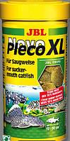 JBL Novo Pleco XL 1000мл/550g корм в виде крупных чипсов с водорослями для растительных донных рыб