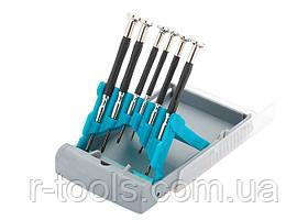 Набор отверток для точной механики, металлические обрезиновые рукоятки 6 шт GROSS 13346