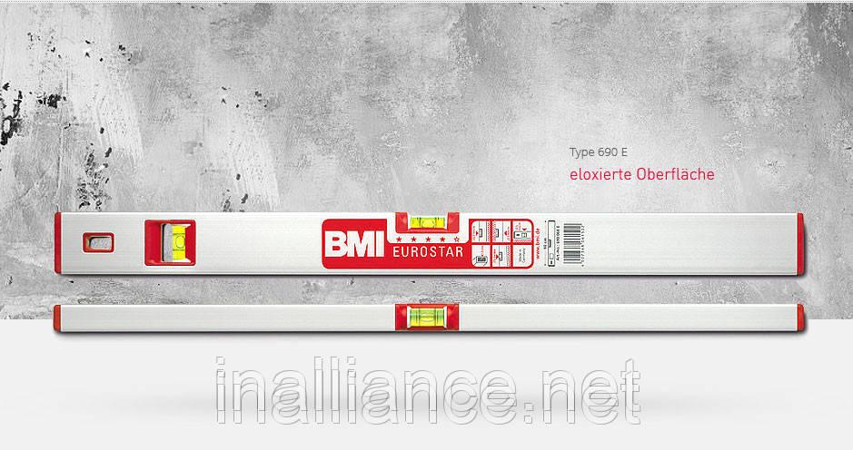 Уровень строительный 100 см профессиональный EUROSTAR BMI 690100E, фото 1