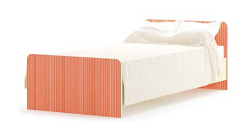 """Кровать 900 из комплекта модульной системы """"Симба"""". Мебель-Сервис"""