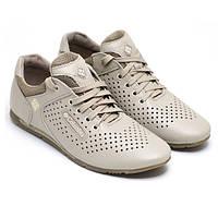 Кроссовки-туфли мужские Columbia летние натуральная кожа черные и бежевые C0020