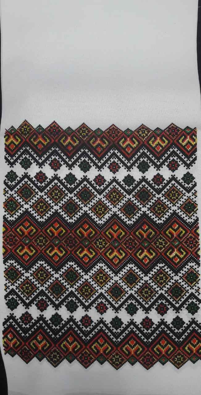Свадебный рушник с украинским орнаментом, принт, габардин, 150х28 см., 40/30 (цена за 1 шт. + 10 гр.)