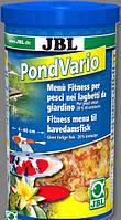 JBL Pond Vario 1000ml/100g корм для прудовых рыб состоящий из смеси палочек, хлопьев и рачков