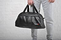 Мужская спортивная кожаная сумка Reebok