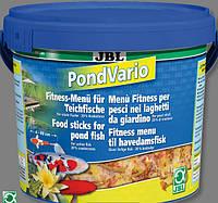 JBL Pond Vario 5500ml/720g корм для прудовых рыб состоящий из смеси палочек, хлопьев и рачков