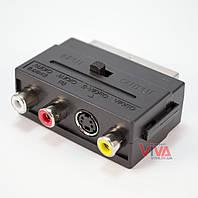 Переходник SCART-3RCA (с переключателем), фото 1