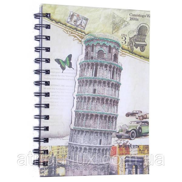 Блокнот Города (Пезанская башня) 13х19см спираль