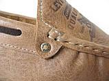 Стильные кожаные коричневые мужские мокасины в стиле Levis весна лето осень туфли МОКАСИНЫ LEVIS (555)  BROWN, фото 8