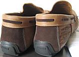 Стильные кожаные коричневые мужские мокасины в стиле Levis весна лето осень туфли МОКАСИНЫ LEVIS (555)  BROWN, фото 7