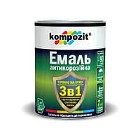 Эмаль антикорозионная 3 в 1 серая Kompozit 2.7 кг