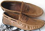 Стильные кожаные коричневые мужские мокасины в стиле Levis весна лето осень туфли МОКАСИНЫ LEVIS (555)  BROWN, фото 3