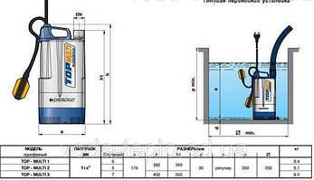 Насос погружной, дренажный Pedrollo Dm 20 каб. 10m., 750 Вт, 12 м3/час, 21 м, фото 2