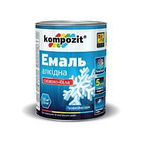 Эмаль алкидная снежно - белая матовая Kompozit 2.8 кг