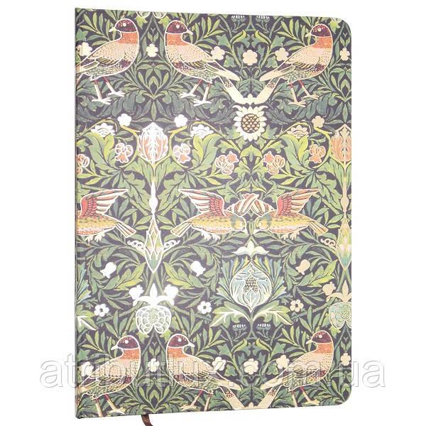 Блокнот c резинкой Цветы (Зеленый оттенок) A5 100л