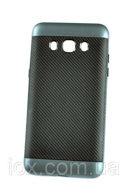 Мягкий синий чехол-накладка IPAKY Carbon для Samsung Galaxy J7 2016