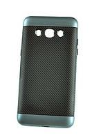Мягкий синий чехол-накладка IPAKY Carbon для Samsung Galaxy J7 2016, фото 1