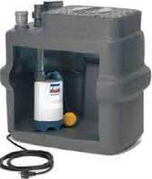 Автоматическая фекальная установка, однонасосна Pedrollo SAR 100-ZXm 1 A/40, 600 Вт, 24 м3/ч, 11