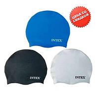 Intex Шапочка 55991 (24) для плавания, силикон, 8+лет, 3 цвета, 20см
