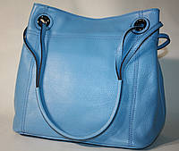 Сумка женская Tony Bellucci голубая натуральная кожа