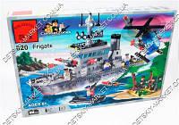 Конструктор BRICK 820 военный корабль, 614 дет, в коробке