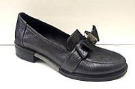 Туфли женские Wright Design кожаные на толстом низком каблуке Uk0424