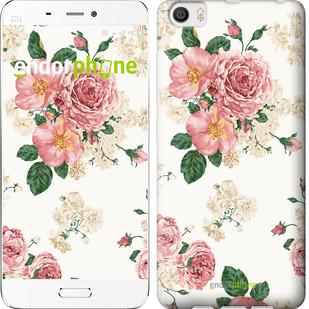 Чехол на Xiaomi Mi5 цветочные обои v1