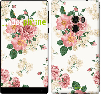 Чехол на Xiaomi Mi MiX цветочные обои v1