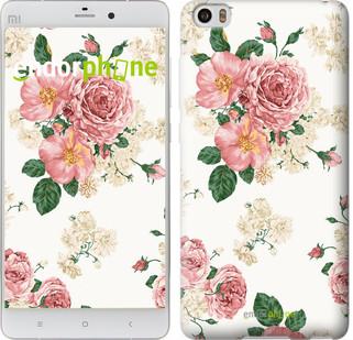 Чехол на Xiaomi Mi 5s цветочные обои v1