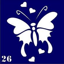 Трафарет для временного тату №26