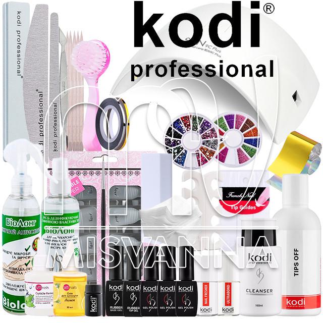 """Стартовый набор """"Kodi Professional LUX"""" с УФ лампой UV+LED SUN9CPlus на 36 Вт (Топ и База по 8 мл.)"""