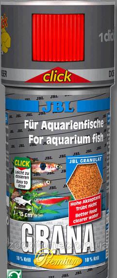 Корм для рыб JBL Grana Click 100mл/30g премиум в гранулах с дозатором