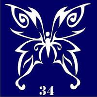 Трафарет для временного тату №34