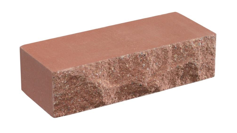 Облицовочный кирпич красный LAND BRICK скала 250х100х65 мм