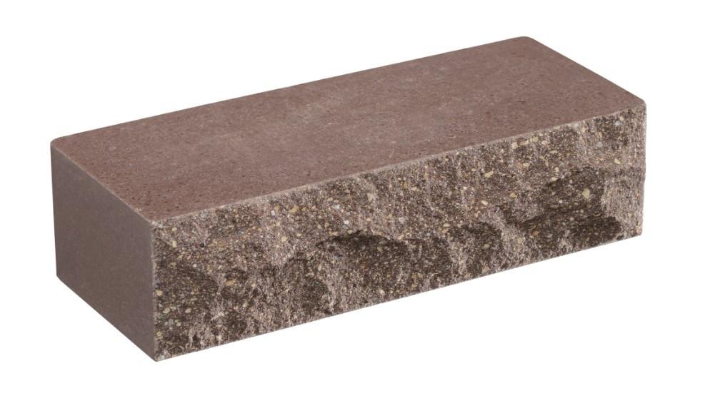 Облицовочный кирпич коричневый LAND BRICK Скала 250х100х65 мм