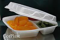 Одноразовый контейнер для доставки еды, 3 делений