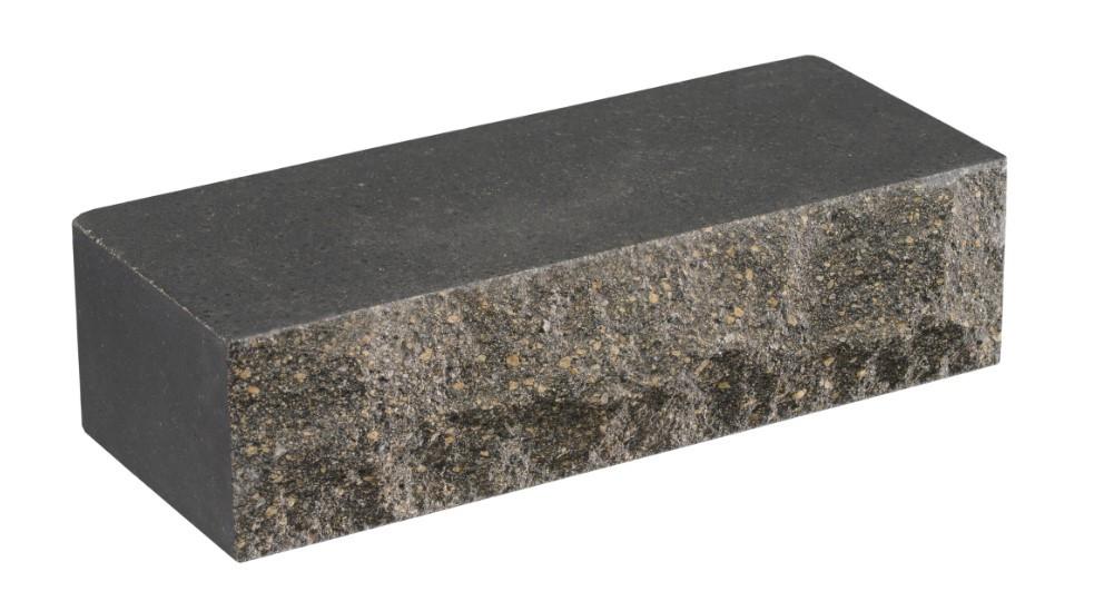 Облицовочный кирпич черный LAND BRICK скала 250х100х65 мм