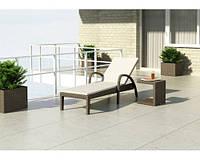 Шезлонг Грация Роял Коричн, лежак, мебель для бассейна, мебель для сада, плетеная мебель
